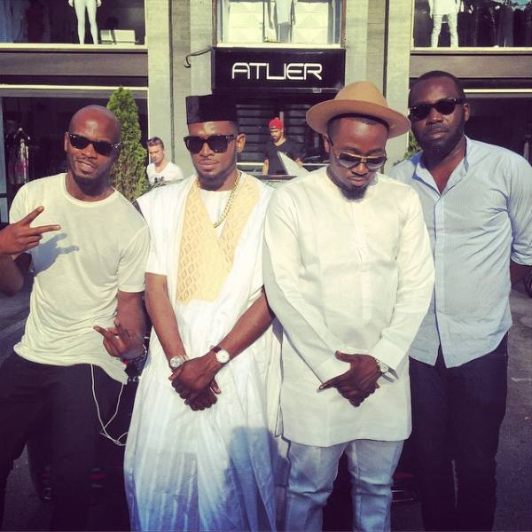 Dbanj, Ice Prince, Moe Musa and Tunde Phoenix at the shooting of the 'Salute' Video