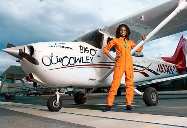 Kimberly and her plane