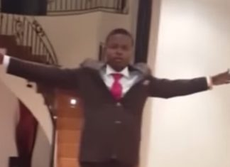 Malawi Pastor floats on air
