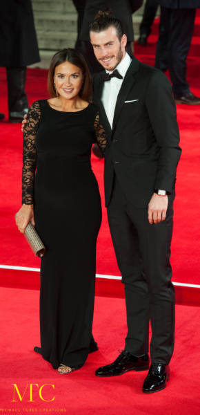 Gareth Bale and girlfriend Emma Rhys-Jones
