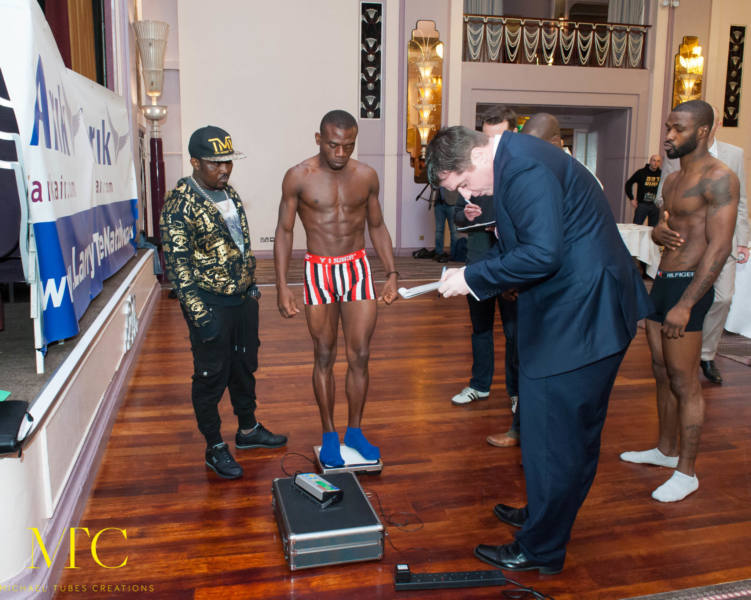 Larry Ekundayo vs Lamptey weigh in-1