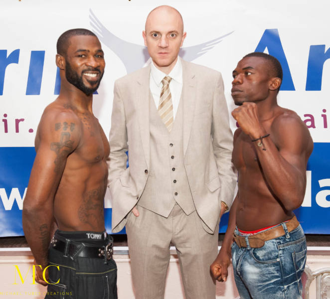 Larry Ekundayo vs Lamptey weigh in-6
