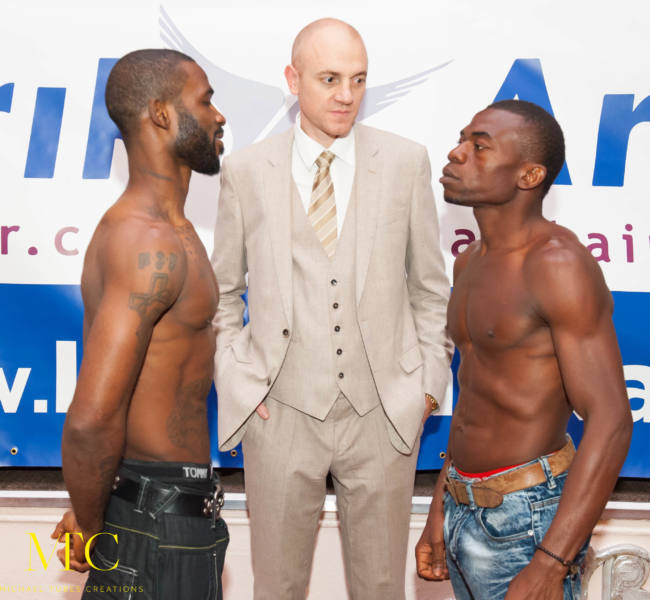 Larry Ekundayo vs Lamptey weigh in-7