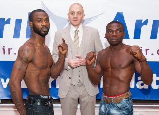 Larry Ekundayo vs Lamptey weigh in-8