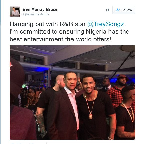 Ben Murray Bruce Picture with Trey Songs