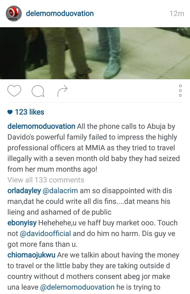Davido Dele Momodu Ovation Social Media Instagram Quarrel Screenshot -14