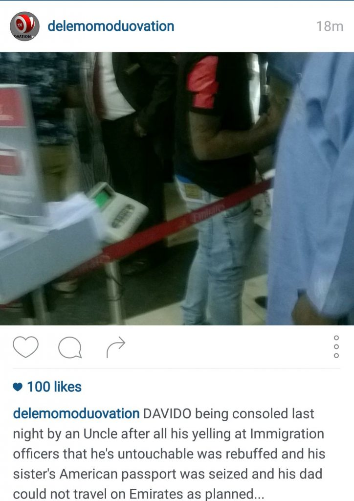 Davido Dele Momodu Ovation Social Media Instagram Quarrel Screenshot -15