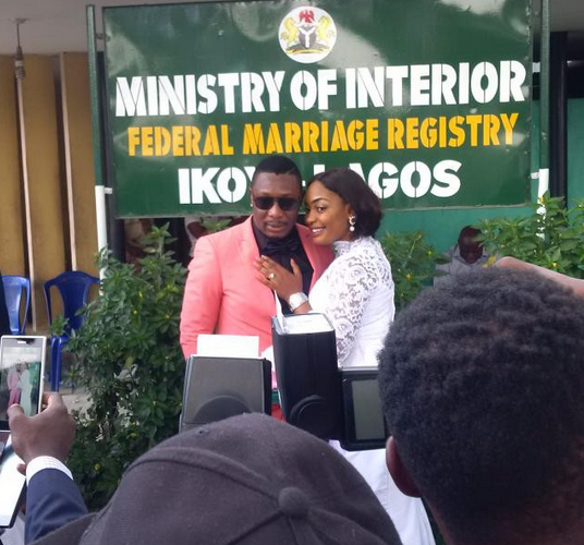 Nuella Njubigbo and Tchidi Chikere Marry Lagos Registry 3