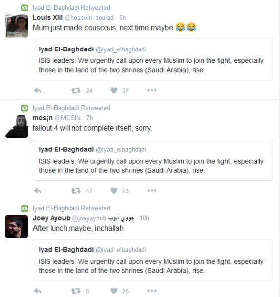 Twitter funny responses to ISIS leader