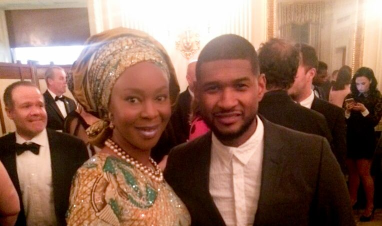 HE Mrs Toyin Saraki and Usher at White House Tribute To Ray Charles - Feature