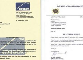 WAEC Letter in Response to Sanusi Edubox -Feat
