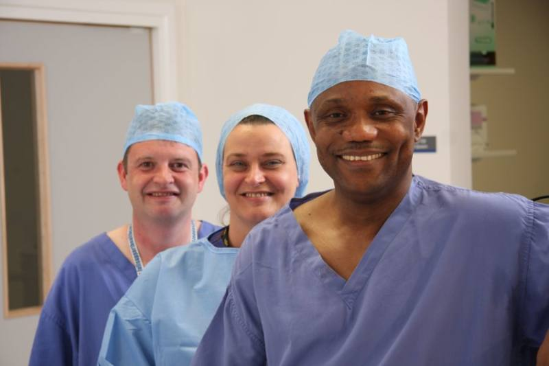 Dr Edi-Osagie at work - Cheshire Fertility Centre 2