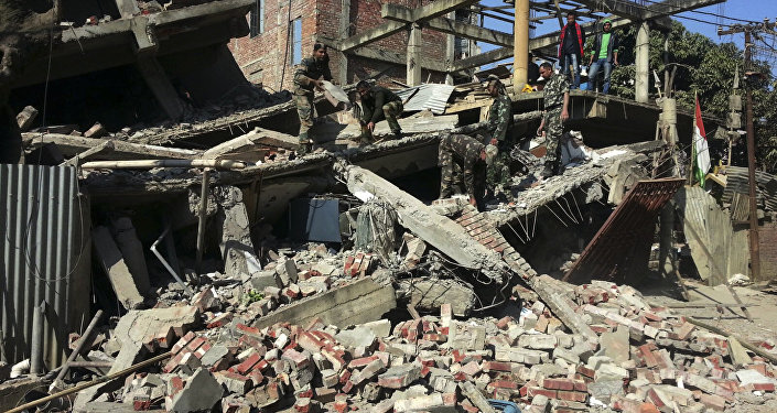 The powerful tremor was reported 6.6 miles southwest of Kumamoto at 4.03pm UK time (12.03am local time) - two-and-a-half hours after a 6.2 magnitude quake hit the same area, according to the US Geological Survey.