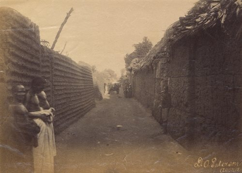View along a street in the royal quarter of Benin City, 1897. Photograph: The British Museum/Trustees of the British Museum