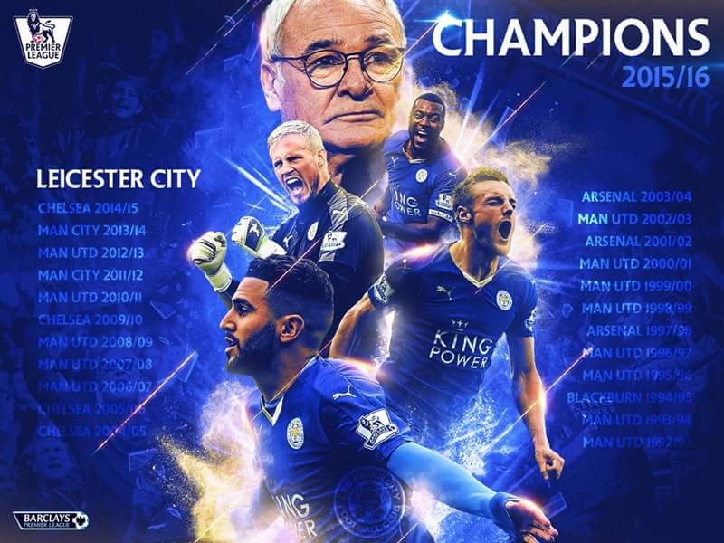 Leicester City FC are Champions