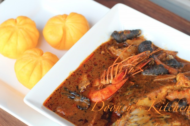 Starch and banga soup by Dooney's Kitchen
