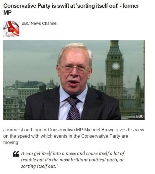BBC Cooments on The new Prime Minister