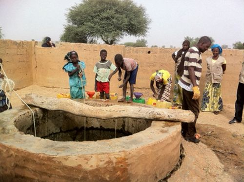 Fetching water from a well