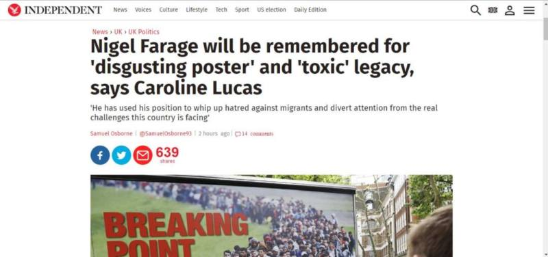 The Independent on Nigel Farage