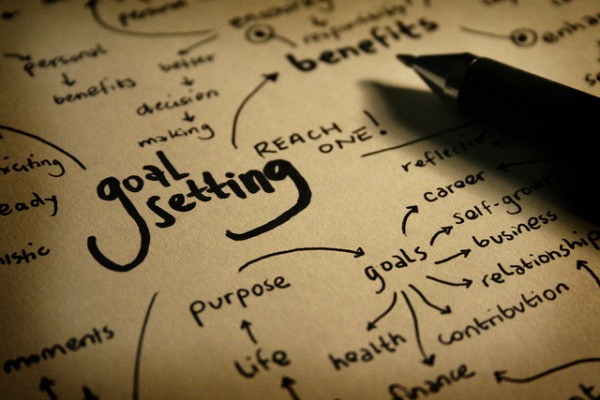 Write down your goals - goal setting