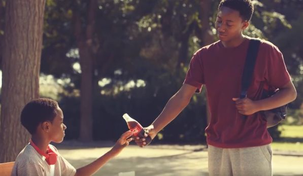 an analysis of coca colas commercial brotherly love Within this advertisement for coca cola in 2016, entitled brotherly love, a number of visual, audio and technical codes are used to sell the product and support.