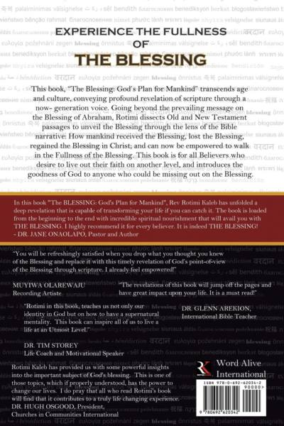 The Blessing by Rotimi Kaleb - Back CoverThe Blessing by Rotimi Kaleb - Back Cover
