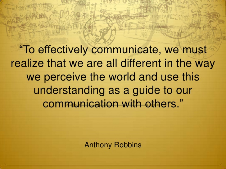 communication (Your Relationship and Communication)