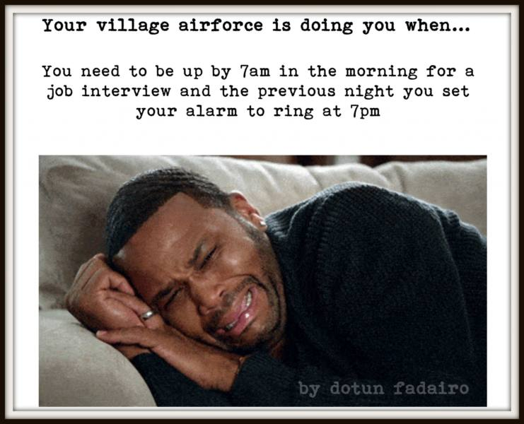 village-1 (5 signs that your village airforce is doing you)