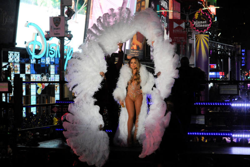 Mariah Carey on New Year's Eve CREDIT - STEPHANIE KEITH-REUTERS