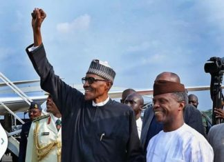 Buhari returns! Buhari and Osinbajo