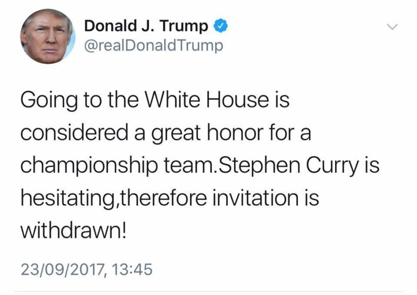 Donald Trump on Stephen Curry