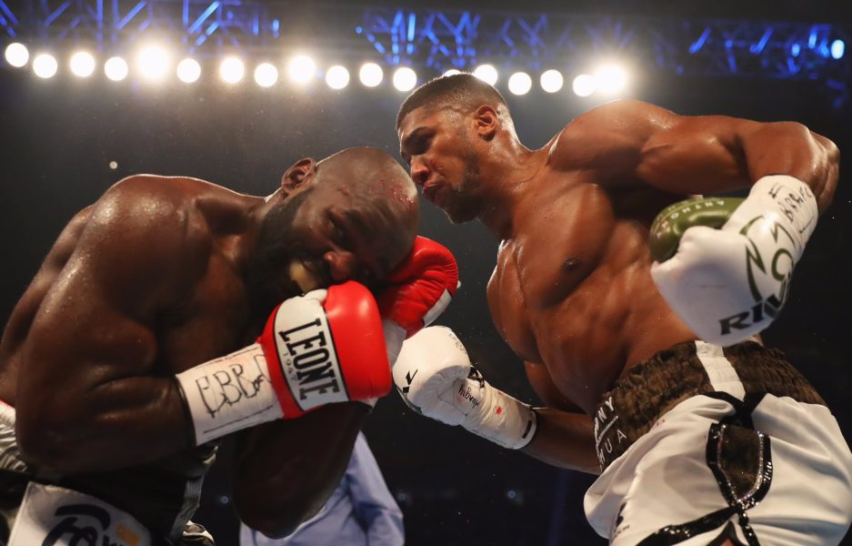 Anthony Joshua beats Takam