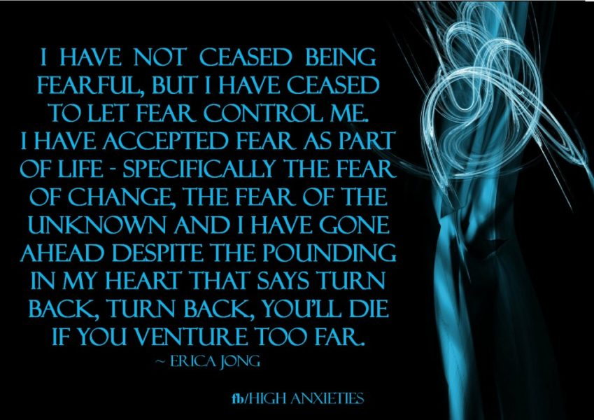 Being fearful