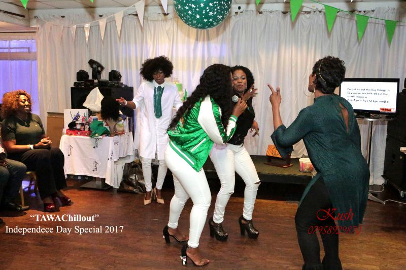 Dancing at the TAWA Chillout - birthday and Independence Day Special